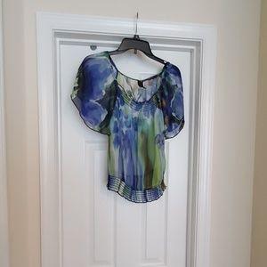 Floral juniors blouse